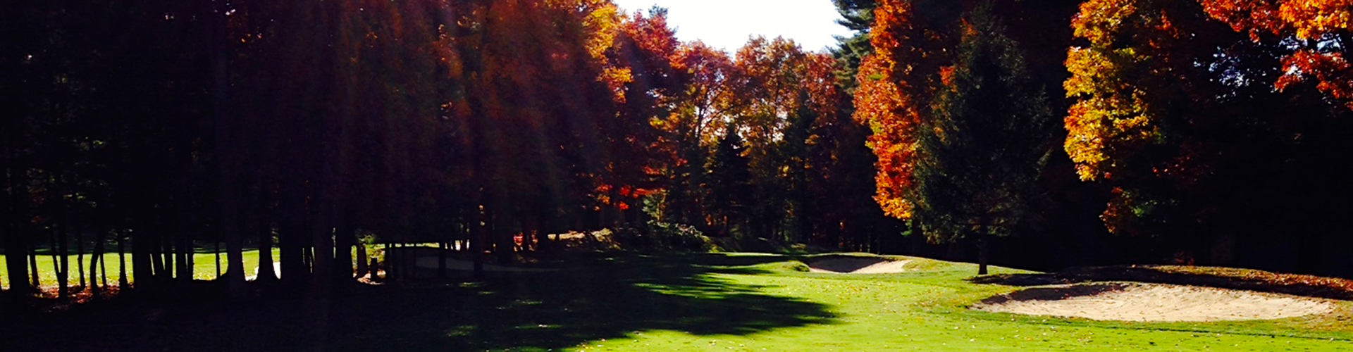 Fall scene at the course at Butternut Farm Golf Club in Stow, Massachusetts
